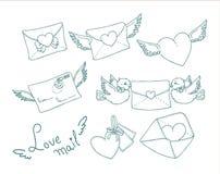 Letra de amor Fotos de archivo libres de regalías
