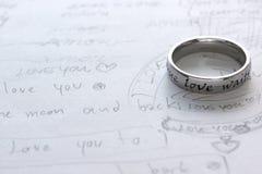 Letra de amor Foto de Stock Royalty Free