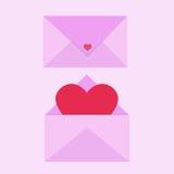 Letra de amor ilustração royalty free