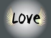 Letra de amor com asa Ilustração do Vetor