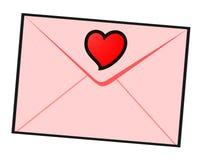 Letra de amor confidencial Foto de Stock Royalty Free