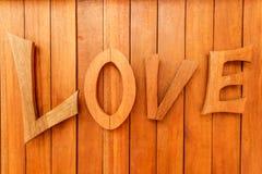 Letra de amor de madera Imagen de archivo libre de regalías