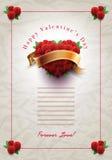 Letra de amor del día de tarjeta del día de San Valentín Foto de archivo libre de regalías
