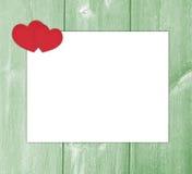 Letra de amor del diseño con el Libro Blanco de los corazones Fotos de archivo libres de regalías