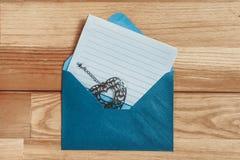 Letra de amor en blanco Imágenes de archivo libres de regalías