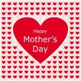Letra de amor feliz del día de madres Foto de archivo libre de regalías