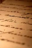 Letra de amor manuscrita Fotografía de archivo libre de regalías