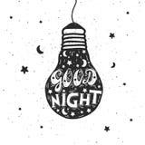 Letra de buenas noches Imágenes de archivo libres de regalías