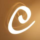 Letra de E Fotografia de Stock