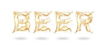 Letra de la cerveza imagen de archivo libre de regalías