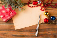 Letra de la escritura a Santa Claus Foto de archivo