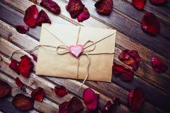 Letra de la tarjeta del día de San Valentín Foto de archivo libre de regalías