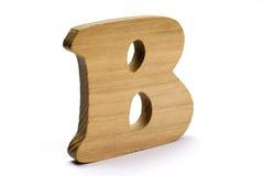 Letra de madeira B Imagem de Stock