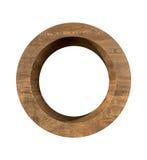 Letra de madeira realística O isolada no fundo branco Fotografia de Stock Royalty Free
