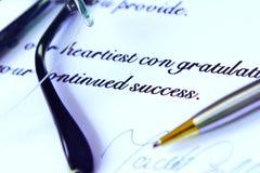 Letra de negócio Imagem de Stock Royalty Free