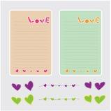 Letra de papel del amor Fotografía de archivo libre de regalías