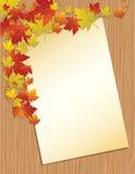 Letra de papel velha no fundo de madeira Fotos de Stock Royalty Free