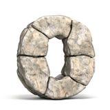 Letra de pedra O 3D da fonte ilustração royalty free