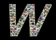 Letra de W - colagem de fotos do curso fotos de stock