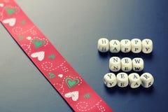 Letra del Año Nuevo del fondo Imagen de archivo libre de regalías