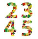 Letra del alfabeto de la fruta y verdura del ejemplo del vector Fotografía de archivo libre de regalías