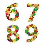 Letra del alfabeto de la fruta y verdura del ejemplo del vector Imágenes de archivo libres de regalías