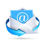 Letra del correo electrónico Vector Imágenes de archivo libres de regalías