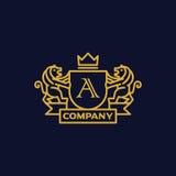Letra del escudo de armas una compañía Foto de archivo libre de regalías