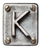 Letra del metal foto de archivo libre de regalías