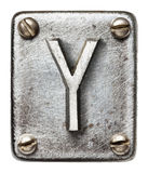Letra del metal Imagenes de archivo