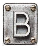 Letra del metal fotos de archivo libres de regalías
