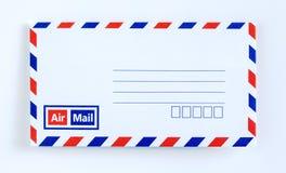 Letra del sobre del correo aéreo Fotos de archivo