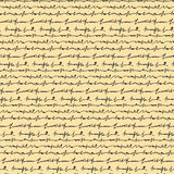 Letra dibujada mano en modelo inconsútil del fondo amarillo Foto de archivo libre de regalías
