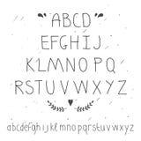 Letra dibujada mano linda Tipo del garabato ilustración del vector
