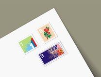 Letra diferente dos selos das ilustrações ilustração do vetor