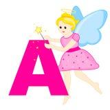 Letra A do alfabeto Fotografia de Stock