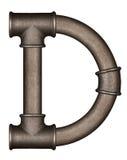 Letra do alfabeto da tubulação imagem de stock