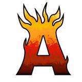 Letra do alfabeto das flamas - A Imagem de Stock Royalty Free