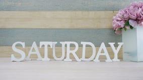 letra do alfabeto de sábado e ramalhete da flor com fundo do espaço imagem de stock