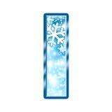 Letra do alfabeto do inverno mim Imagens de Stock Royalty Free