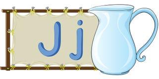 Letra do alfabeto em uma lona ilustração do vetor