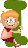 Letra do alfabeto mim (menino) Imagem de Stock