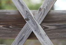 Letra X do alfabeto ou Roman Numeral Ten fora da madeira Imagens de Stock Royalty Free