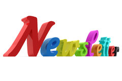 Letra do boletim de notícias Foto de Stock