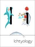 Letra do cartão flash eu sou para Ichtyology Foto de Stock Royalty Free