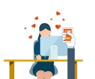 Letra do cumprimento do dia de Valentim ilustração stock
