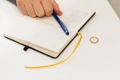Letra do divórcio Foto de Stock