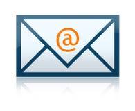 Letra do email ilustração stock