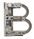 Letra do metal imagem de stock