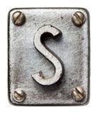 Letra do metal Foto de Stock Royalty Free